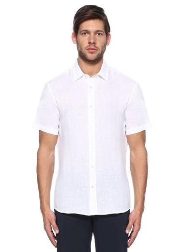 %100 Keten Kısa Kollu Gömlek-Gieves & Hawkes